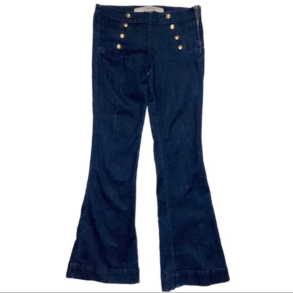 ambroisa Denim - Sailor Button Dark Flare Jeans